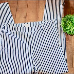 Navy blue stripped work pants